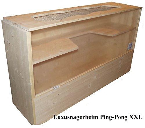 Nagerheim PING Pong XXL 150x40x80cm Gehege aus Massivholz für Hamster Rennmaus Made in Germany von Käppel-Germany