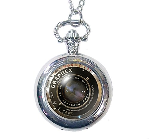 Vintage Graphex Joyplancraft Reloj de bolsillo collar con colgante en forma de...