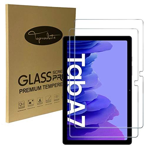 ToProducs - Lote de 2 protectores de pantalla para Samsung Galaxy Tab A7 10.4' 2020 T500 de 0,3 mm (vidrio templado 2.5D con lápiz capacitivo)