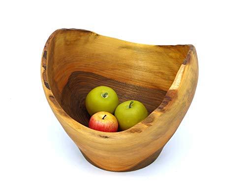 Gedrechselte Schale, Obstschale, Dekoschale, Holzschüssel ∅30 cm Handarbeit aus Deutschland, massives Walnussholz, Holzschale, unikat, nachhaltig, umweltfreundlich, Walnußholz