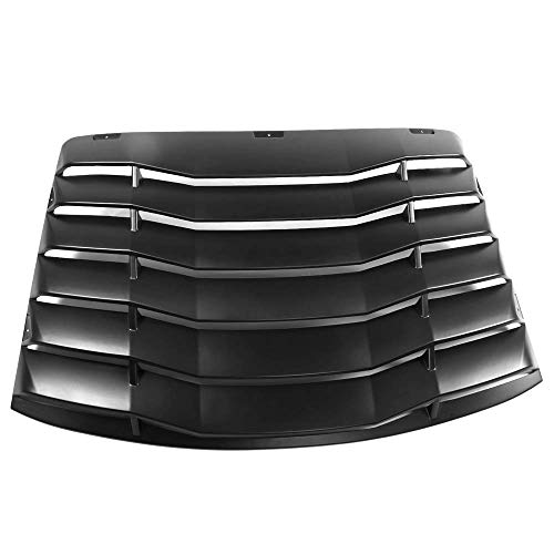 Window Louver Compatible With 1999-2004 Ford Mustang, IKON Style Black Rear Spoiler Wing By IKON MOTORSPORTS