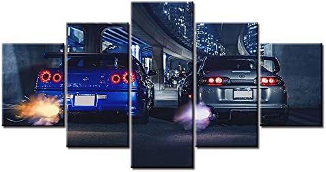 Print Large Skyline Gtr VS Supra 捧呈 Art Canvas 公式ショップ Car HD Printing Oil