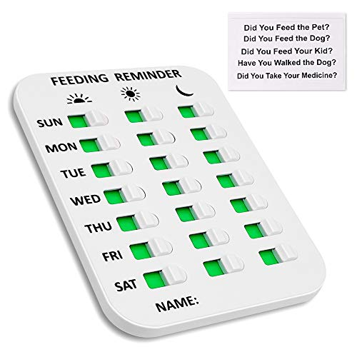 Keegud DIY Pet Feeding Reminder,Did You Feed The Dog/Cat/Fish/Pet/Your Kid? Did You Take Your Medicine? 3 Times A Day Reminder for Puppy/Kids/Old People