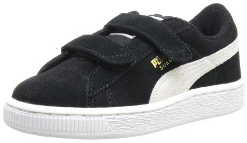 PUMA Suede Classic 2-Strap Sneaker  , Black/White, 8 M US Toddler