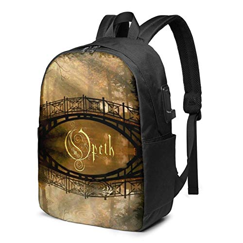 YTHH Opeth Comfortable and Durable Waterproof Laptop Backpack Travel Backpack with USB Charging Port 17 Inches, Suitable for Men and Women