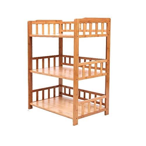 HLL Estantes de piso de cocina Estante de especias Gabinete de almacenamiento Estante de gabinete de bambú Estante de zapatos multiusos,60x38x84cm,60x38x84cm