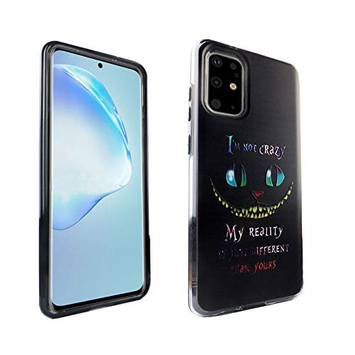 Galaxy S20 Plus CASEMPIRE Alice in Wonderland Hybrid Case Shock Proof Never Fade Slim Fit Cover for Galaxy S20 Plus Cheshire Cat Quotes