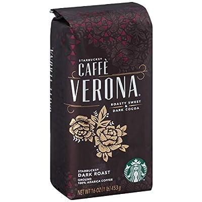 Starbucks Caffè Verona Ground Coffee, Caffé Verona, 16 oz, Pack of 6