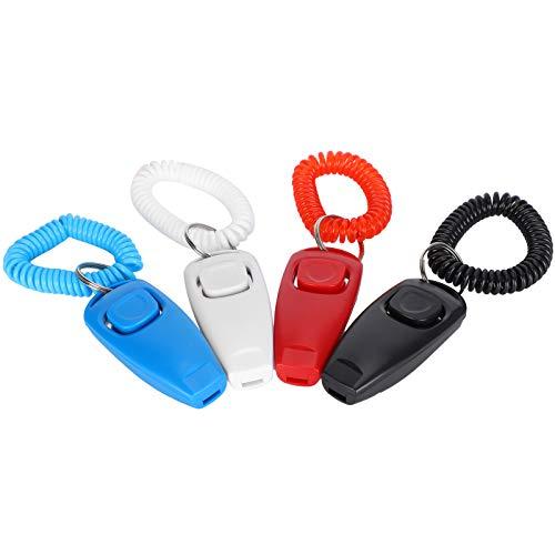 2 en 1 Clicker Whistle, Ambientes 2 en 1 Diseño de función Pet Training Clicker, Sólido Seguro para Perros Gato Suministros de Entrenamiento para Mascotas Cachorro