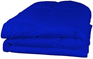 100% Egyptian Cotton 400 TC 1 Piece Comforter 100 GSM Solid Pattern All Size & Color (Twin / Twin XL , Royal Blue)