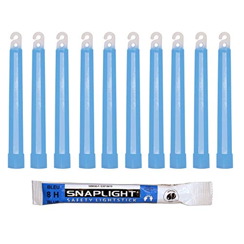 Cyalume VP-UOD2-W120 - Barras de luz azul SnapLight Luces químicas 15 cm, 6 Inch Lightstick super brillante con duración de 8 horas (Caja de 10)