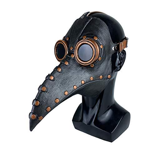 NA Plague Doctor Mask Dr. Beulenpest Black Brown Latex Adult Cosplay Birds Beak Masks Halloween Mask Props