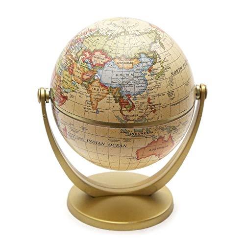 WSF-MAP, 1 stück vintage englische edition globus weltkarte dekoration erdkugel mit basis geographie klassenzimmer home office dekoration