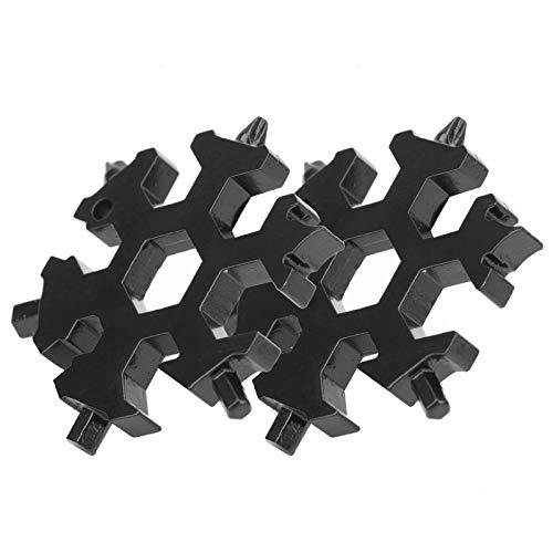 Destornillador de forma Herramienta de llave de copo de nieve Acero de alto carbono Durable Multifuncional 2 piezas para reparación(black)