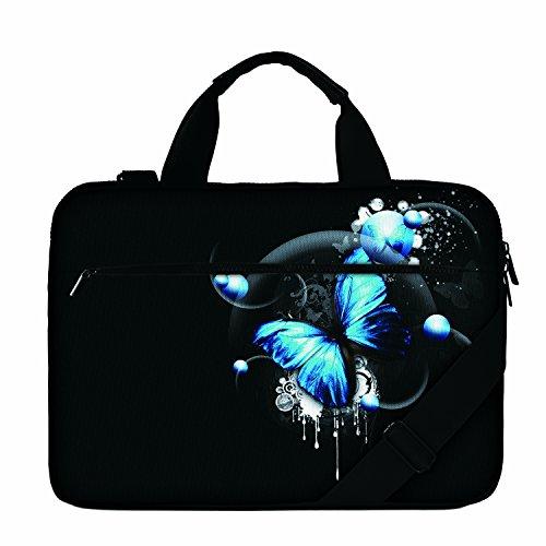 Luxburg 17' Borsa a tracolla di alta qualità per Computer portatile - Farfalla Blu