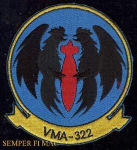 Military Patches for Man & Woman VMA-322 Fighting Gamecocks Patch US Marines 4TH Maw MAG MCAS NAS South Weymouth