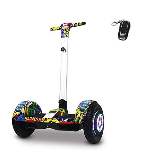 Hoverboard Self Balancing Patinete Scooter de Equilibrio Inteligente de Mano de 10 Pulgadas para Adultos y niños, Yellow