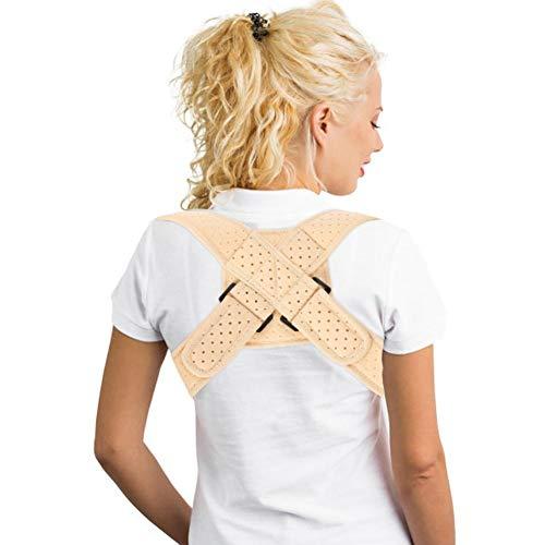 Geradehalter zur Haltungskorrektur für Frauen und Männer, Haltungstrainer zur Unterstützung für den Rücken gegen Nacken Schulterschmerzen Rückenbandage für Perfekte Haltung Rückenstabilisator(M)