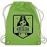 Shirtracer Fußball - Kreisliga - Saufen statt laufen - Unisize - Hellgrün - fußball beutel - WM110 - Turnbeutel und Stoffbeutel aus Baumwolle