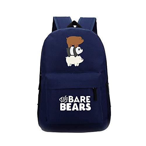 We Bare Bears Casual Mochilas Escolares para Mujeres y