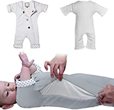 Baby Sleep Suit with Adjustable Ventilation for Infants 3-7 Months or 12-21 lbs for Transitioning Your Infant from Swaddling - Soft Sleepsuit Allows Baby to Move - Wearable Swaddle Blanket for Babies