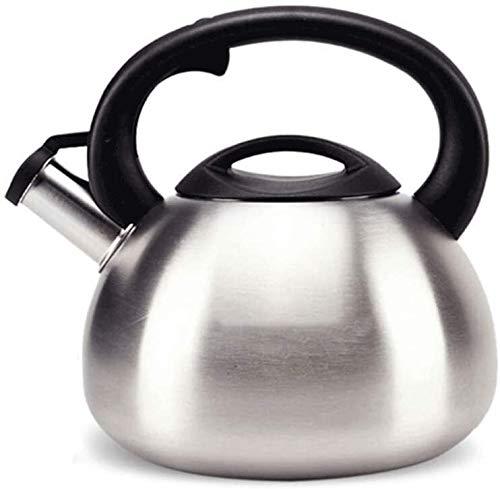 Bouilloire induction Gaz Bouilloire Cuisinière Théière 2.5L / 3.5L automatique Sounding Whistle 304 Poêle en acier inoxydable naturel Cuisinière à induction électrique WHLONG (Size : 2.5L)
