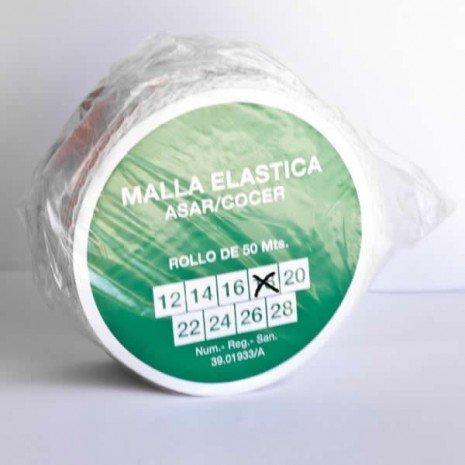 alesframa Malla elástica para Carne, Rollo de 50 Metros (Calibre 18)