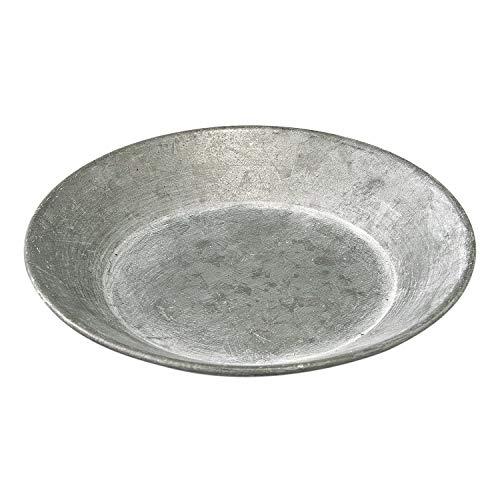 SPICE OF LIFE(スパイス) 皿 ブリキラウンドトレイ アンティーク風 マットシルバー Sサイズ 直径12cm BAGT1642