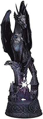 George S. Chen Imports SS-G-71223 Dragon with Lighting LED Crystal Ball Collectible Figurine Statue Model