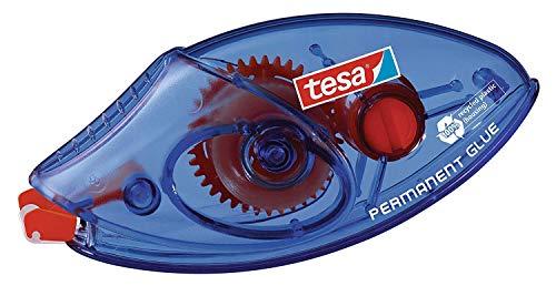 tesa Roller Kleben Permanent ecoLogo Einwegroller - Umweltschonender Kleberoller mit reißfestem PET-Band - 8,5 m x 8,4 mm
