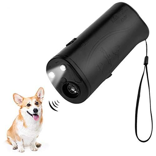 Repelente e treinador de cães preto portátil da Meiren, dispositivo anti-latido ultrassônico duplo