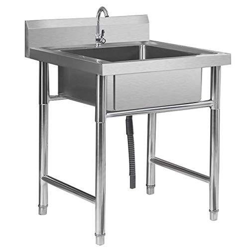 SHATONG Fregadero Engrosado Comercial de Acero Inoxidable para hostelería con Grifo, fácil de Limpiar y Fortalecer la Carga, para Hotel/Restaurante/Cocina