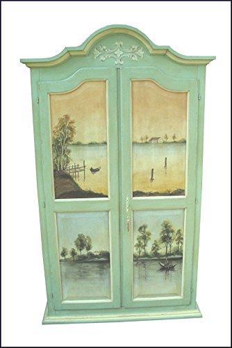 Lacommodemobili Armadio provenzale Dipinto e Decorato a Mano con paesaggi