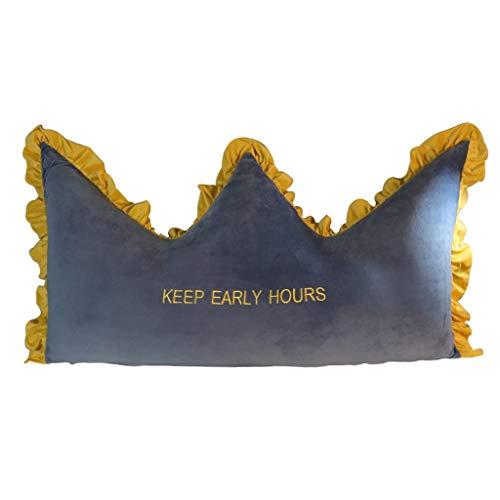 Cabecero de cuña Cabeza de corona de la princesa desmontable Habitación Respaldo triangular Dormitorio Cojín almohada Cintura Protección Tatami Funda suave Almohadas lumbares Almohada de lectura trian
