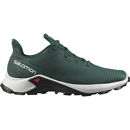Salomon Alphacross 3 - Zapatos de trail running para Hombre, Verde (Ponderosa Pine/Lunar Rock/Black), 44 EU
