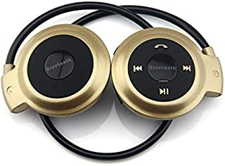 MP3 Player Bluetooth Headphone, Wireless MP3 Player with FM Radio, Stereo Earphone TF Card MP3 Max to 32GB Durable (Color ...
