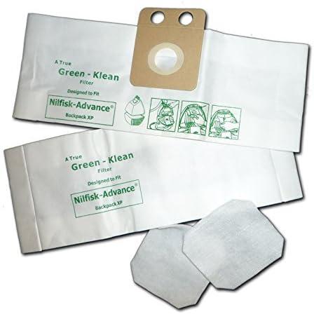 Green Large-scale sale Klean GK-AdBacPak Nilfisk-Advance Backuum Now on sale XP Replacement