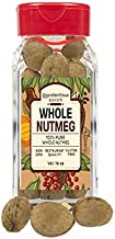 Whole Nutmeg, 1 Cup Shaker Jar, by Unpretentious Baker, Gluten Free, Reusable Plastic Spice Container, Ideal for Eggnog & ...