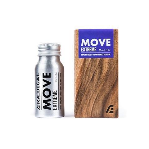 RAEDICAL - MOVE EXTREME Beard Oil (Bartöl, 30ml - in Walnussholz-Koffer)