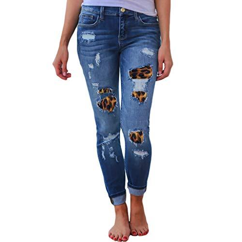ღLILICATღ Vaqueros Mujer Rotos,Botones para Vaqueros Pantalones Mujer Vaqueros Pitillo Pantalones Vaquero Skinny Push Up Pantalones Elástico Jeans Cintura Alta Mezclilla Casual 2020 Leggings