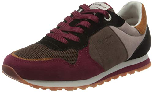 Pepe Jeans London Damen Verona W Multi Sneaker, 286BURNT RED, 38 EU