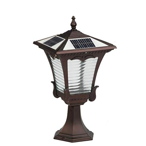 Zonnelamp op zonne-energie voor buiten, IP65 led, Villa buiten, van glazen potten, lantaarn, zuil vintage, tuin, landschap, lichte zuil.