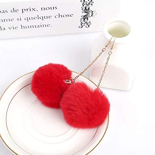 Ziiyawei Oorbellen voor dames, een paar balletjes, 6 cm pompom-druppel-oorringen, leuke oorbellen voor vrouwen, gepensioneerd, geometrisch druppelvormig, feestsieraden, cadeau