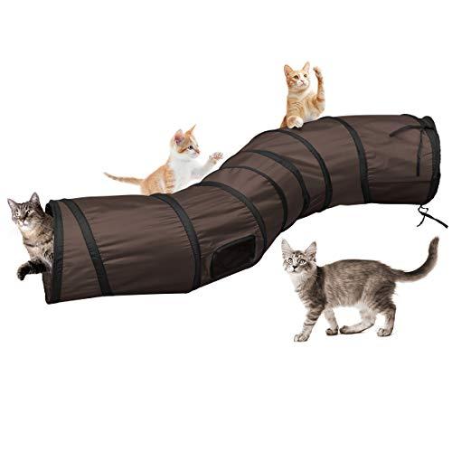 Katzentunnel Katzenspielzeug S Tunnel Pet Cat Play Tunnel Tube zusammenklappbar Kätzchen Spielzeug Katze Tunnel Haustiere Spielzeug (120 cm lang)