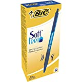 BIC Soft Feel Retractable Ballpoint Pen, Medium Point, Blue, 12-Count