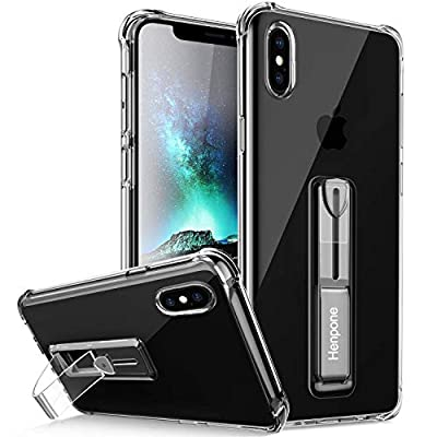 Clear iPhone Xs Max Case Protective Phone Cover with Kickstand Ring Stand Holder Compatible for iPhone Xs Max 6.5 inch