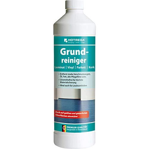 HOTREGA Grundreiniger Laminat, Vinyl, Parkett, Kork - Intensiv-Reiniger Bodenreiniger 1 Liter