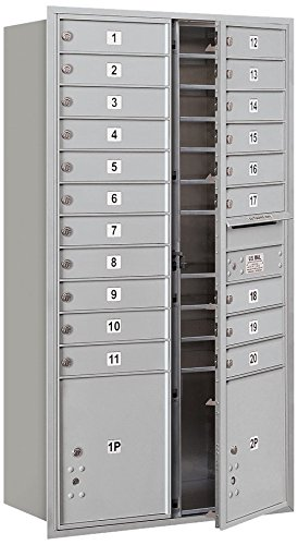 Salsbury Industries 3716D-20AFU 4C Horizontal Mailbox with Front Loading and USPS Access