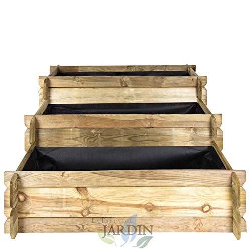 Suinga HUERTO URBANO Escalera 3 alturas 113 x 88 x 40 cm. Perfecto para cultivar un huerto familiar en su hogar