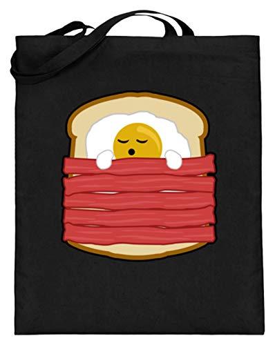 Ei mit Bacon auf Toast - Toast Hawai Fast Food - auch als Geschenk - Jutebeutel (mit langen Henkeln)